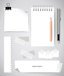 Note book and note papers Business working vector image