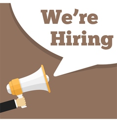 We are Hiring vector image vector image