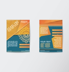 Brochure Flyer Thai style template in A4 size vector image vector image