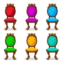 cartoon colorful Retro chair vector image