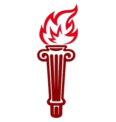 Flaming torch vector image vector image