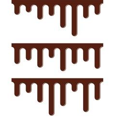 melting chocolate streams vector image