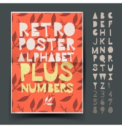 Retro alphabet for art and craft posters design vector image