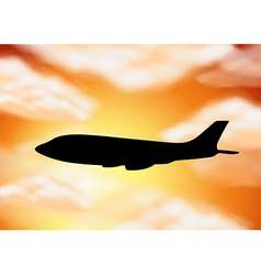 Silhouette airplane vector image