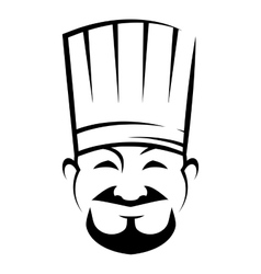 Smiling chinese chef with a goatee beard vector image