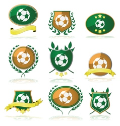Soccer badges vector image vector image