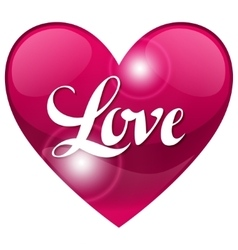 Valentine day background with word love and heart vector image vector image