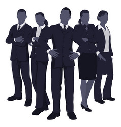 young dynamic business team vector image vector image