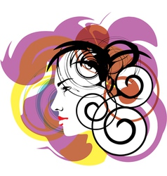 Beautiful Woman face vector image vector image