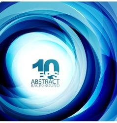 Blue swirl abstract background vector image vector image
