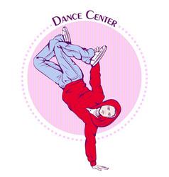 dance line color break dance vector image vector image