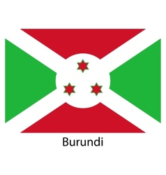 Flag of the country burundi vector image