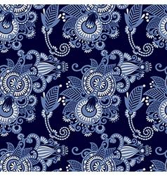 seamless flower paisley design vector image