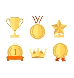 Award Set Flat Style vector image vector image