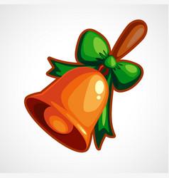 cartoon christmas bell vector image