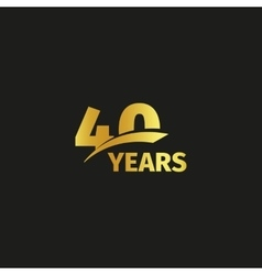 Isolated abstract golden 40th anniversary logo on vector image