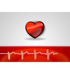 medical cardio heart vector image