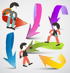 People and Arrows vector image
