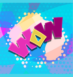 wow word text blobs vector image vector image