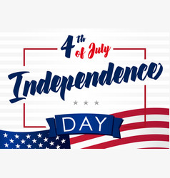 4 happy independence day usa creative banner vector