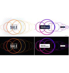 abstract design for presentation web landing vector image
