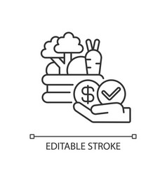 Affordable food linear icon vector