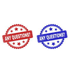 Any questions question rosette watermarks vector