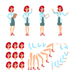 attractive doctor funny character design cartoon vector image