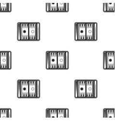 Backgammon icon in black style isolated on white vector