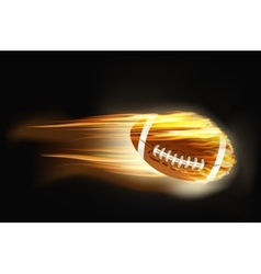 ball for American football on fire vector image vector image