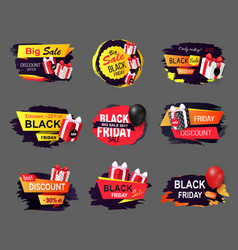 Big offer on black friday only today proposition vector