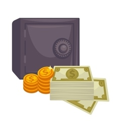 Big pile of cash Concept money vector