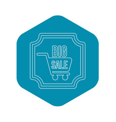 big sale sticker icon outline style vector image