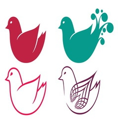 Bird simple1 resize vector image