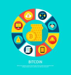 bitcoin money concept vector image