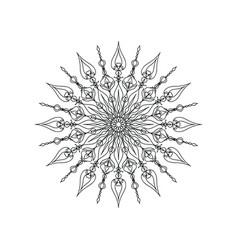 Black color mandala ornament vector