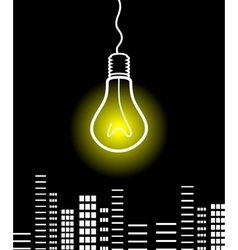 Bulb shines vector