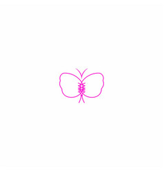 butterfly and bra symbol design vector image