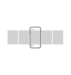 carousel for social post in phone mockup vector image
