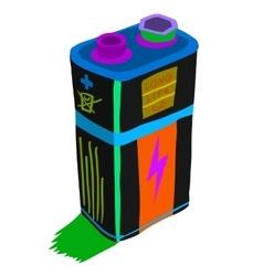 Cartoon battery flat icon vector