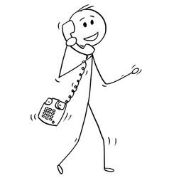 cartoon walking man or businessman making vector image