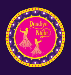celebrate navratri festival poster design vector image