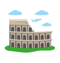 Colosseum structure icon vector