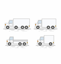 commercial van icons set vector image