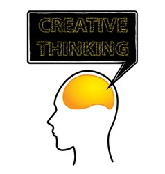 Creative thinking brain vector