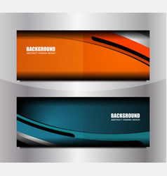curve banner template vector image