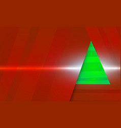 dark red christmas background with green tree vector image