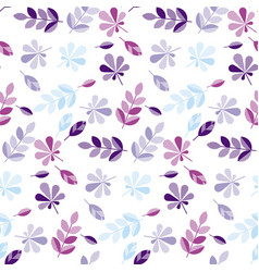 Decorative fall leaves pattern vector