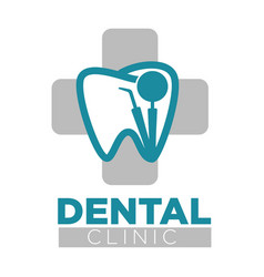 Dental clinic treatment tooth problems of vector