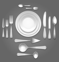 dinnerware top view vector image